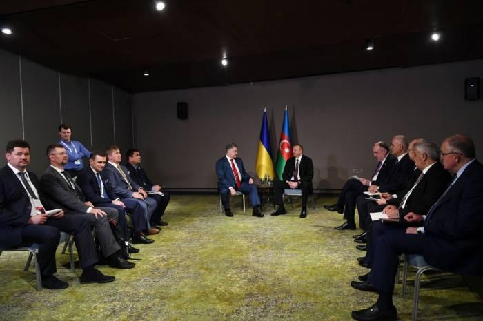 Ilham Aliyev rencontre son homologue ukrainienà Eskisehir