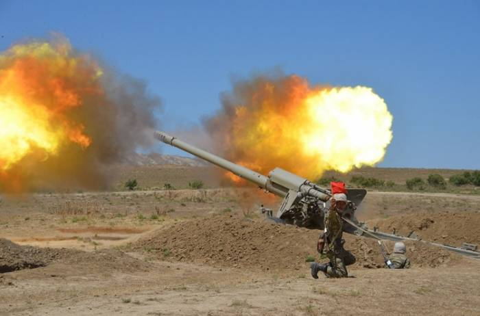 Azerbaijani army's rocket, artillery formations conduct live-fire exercises -VIDEO