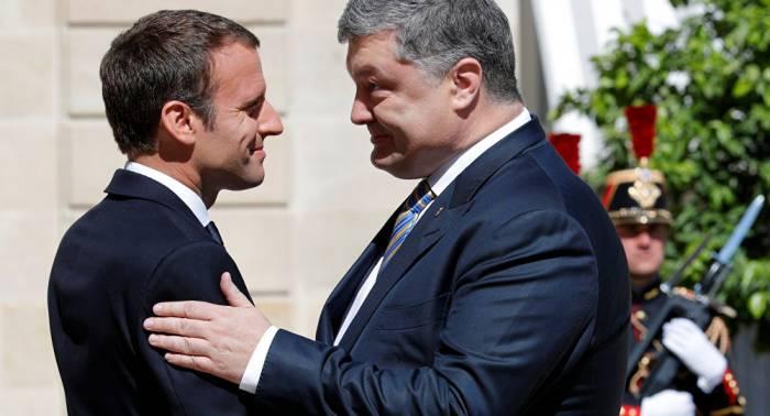 Poroshenko y Macron debaten despliegue de una misión de la ONU en Donbás