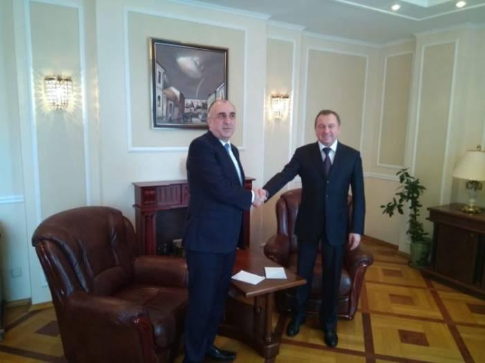Mammadyarov se reunió con su homólogo bielorruso