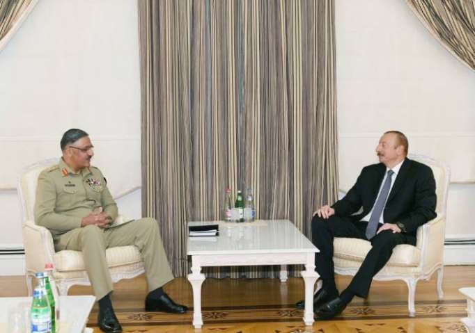Paksitanın ordu generalı İlham Əliyevin qəbulunda