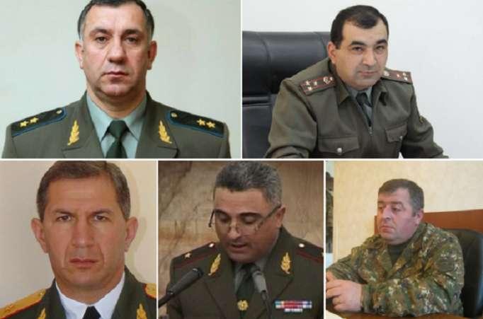 Ermənistan ordusunda yüksək vəzifələrə təyinatlar olub