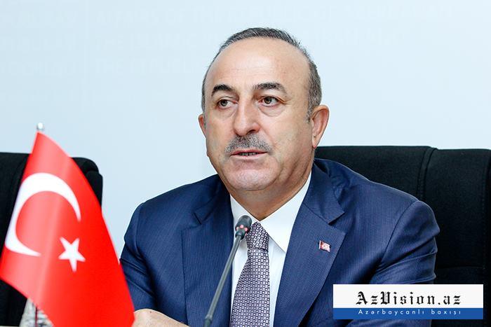 Çavuşoğlu azərbaycanlı jurnalistlərə önəmli açıqlamalar verdi - FOTO