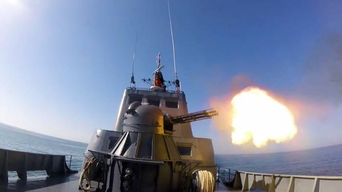 Hərbi Dəniz Qüvvələrinin təlimi keçirilib - VİDEO+FOTOLAR