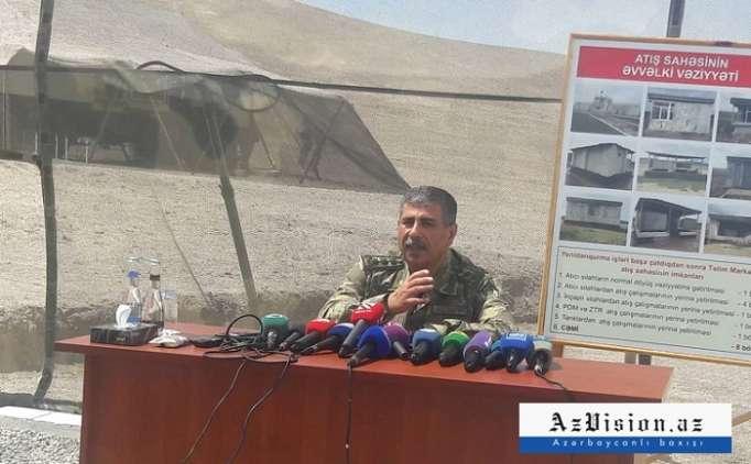 """Zakir Həsənovdan Ermənistana mesaj: """"Bir hədəf də salamat qalmaz"""""""