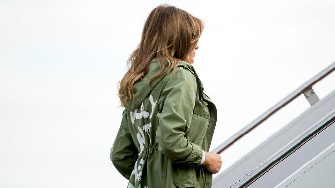 Melania Trump provoziert mit Zara-Jacke