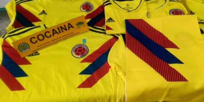 Coupe du monde 2018 : saisie de maillots de la Colombie imprégnés de cocaïne