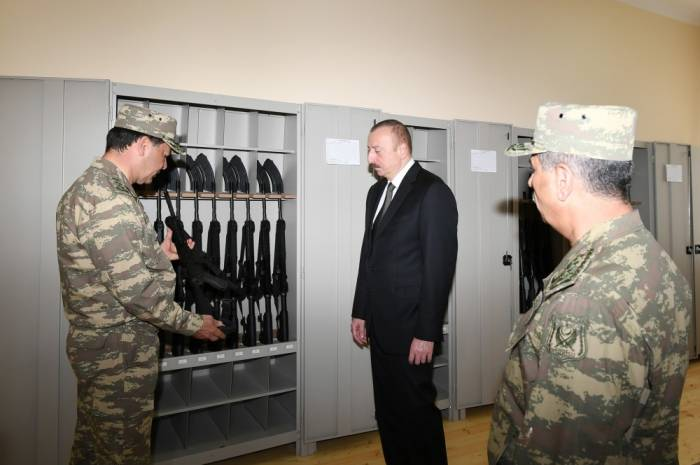 President Aliyev attends opening of Defense Ministry's military unit -PHOTOS