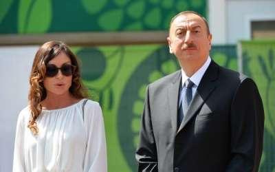 IlhamAliyev y su esposa asisten a la ceremonia de apertura del Mundial de Fútbol en Moscú