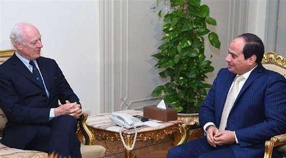 السيسي يؤكد أهمية التوصل إلى حل شامل ودائم للأزمة السورية
