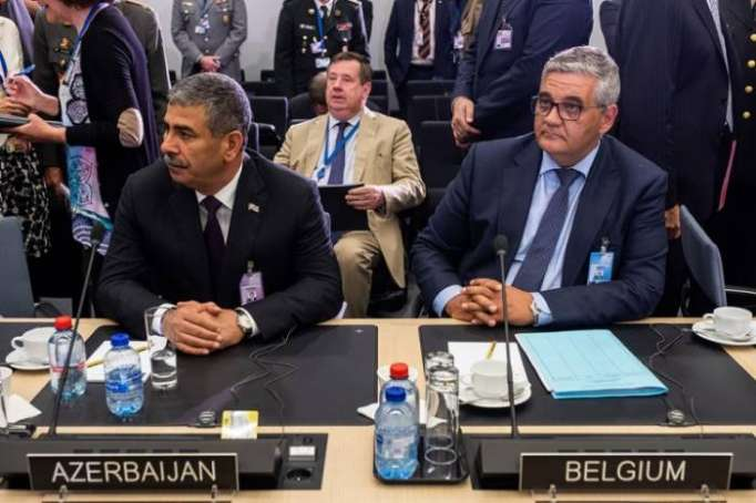 Azerbaijan defense minister attends NATO meeting