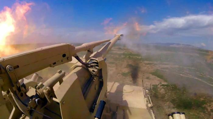 Azerbaijani military conducts practical firing from DANA self-propelled artillery systems