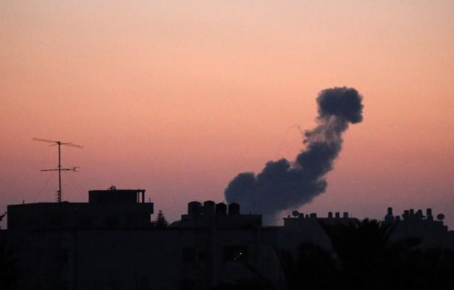 Israeli jets hit Gaza Hamas positions after militants fire rockets