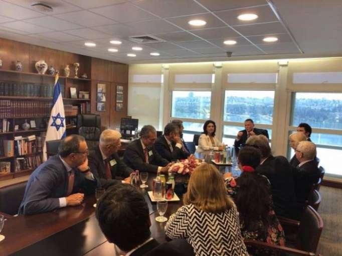 Nizami Ganjavi International Center delegation meets Knesset speaker