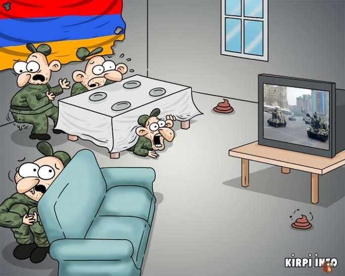 Quand les Arméniens voient le défilé militaire en Azerbaïdjan - CARICATURE