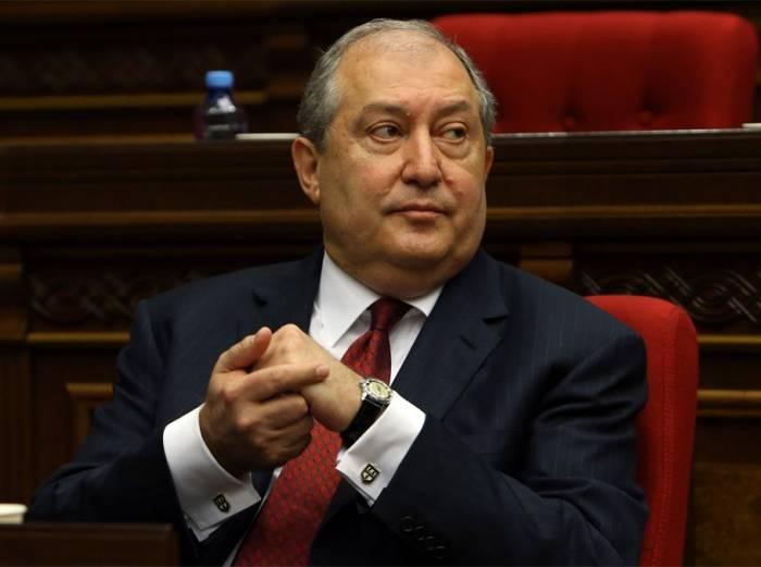 Ermənistan prezidentindən Avropa separatçılarına dəstək