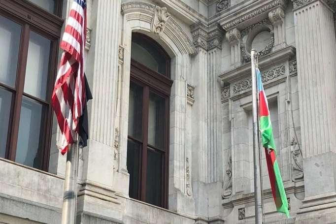 Filadelfiyada Azərbaycan bayrağı ucaldıldı - FOTO