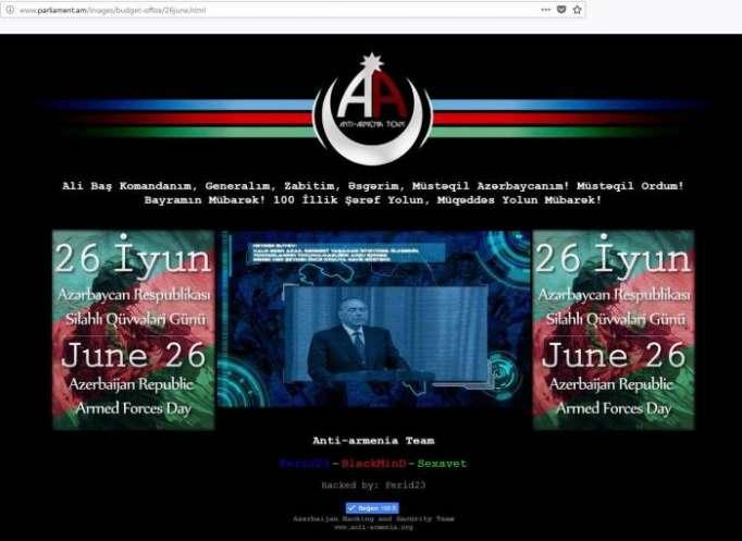 Ermənistanın rəsmi dövlət saytları dağıdıldı - SİYAHI