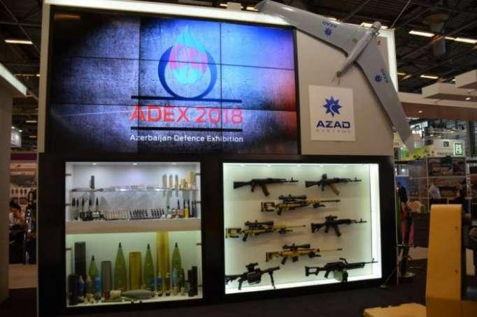 Azərbaycan silahları Parisdə nümayiş etdirildi - FOTOLAR