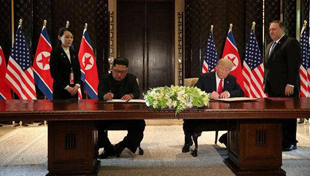 Trump, Kim sign document at end of historic summit