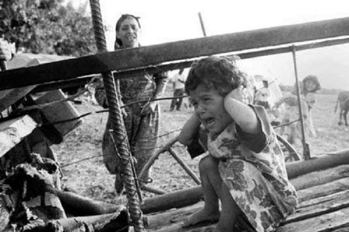 الأطفال الأذربيجانيون الذين تعرضوا للعنف الأرمني - صور