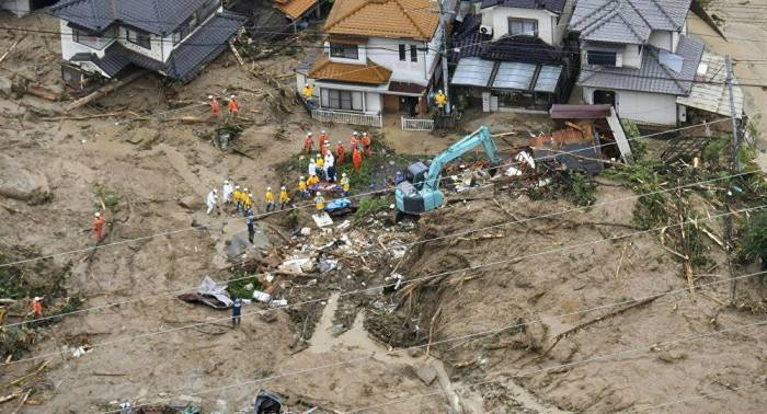 Floods in Japan leave 134 dead, 88 missing