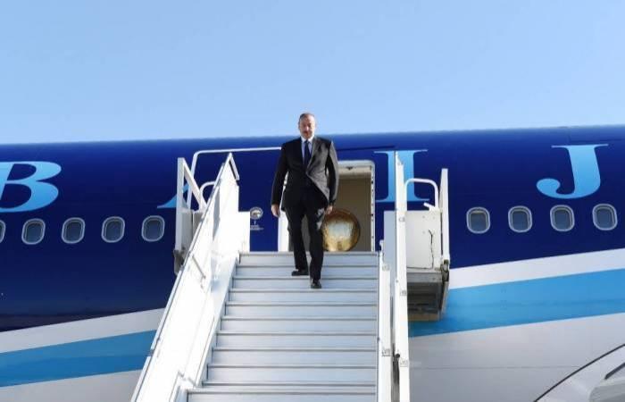 Ilham Aliyev est parti pour la Belgique