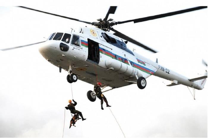 Nabranda itən uşağın axtarışına helikopter cəlb olundu