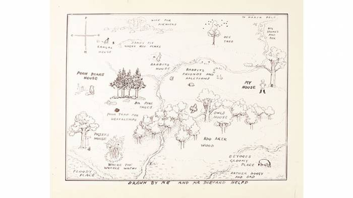 Winnie-the-Pooh original map illustration sells for record $570,000