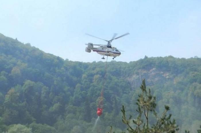 Şəmkirdə yanğın: Helikopter cəlb olunub