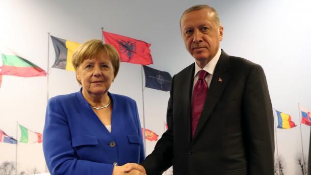 Treffen zwischen Präsident Erdoğan und Bundeskanzlerin Merkel