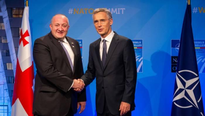 NATO Secretary General and President of Georgia discuss Black Sea security
