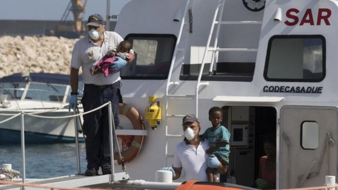 Italy allows migrants to land in Sicily