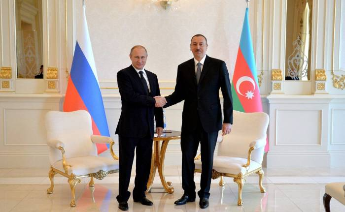 Ilham Aliyev congratulates Putin on hosting the World Cup