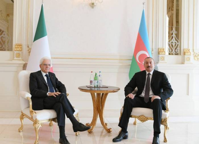 Les présidents azerbaïdjanais et italien ont fait une déclaration à la presse