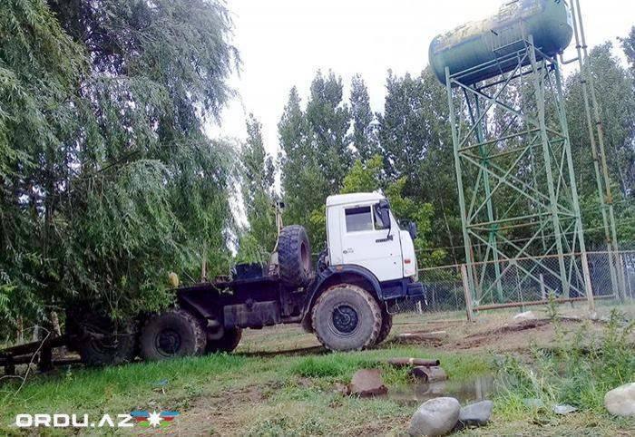 Armenische Streitkräfte nahmen das Chiragli-Dort des BezirkesAghdam unter Beschuss- VIDEO