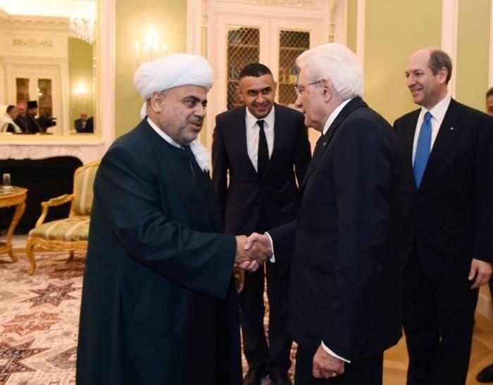 Şeyx İtaliya prezidenti ilə görüşüb