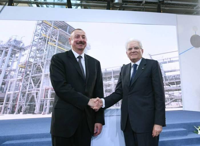 Les présidents azerbaïdjanais et italien participent au forum d'affaires à Bakou
