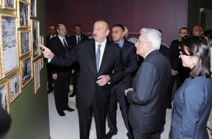 Presidentes asisten a la exposición dedicada a Shah Ismayil Jatayi-Fotos