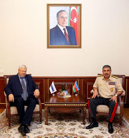 Azerbaijani defense minister meets personal rep of OSCE Chairperson-in-Office