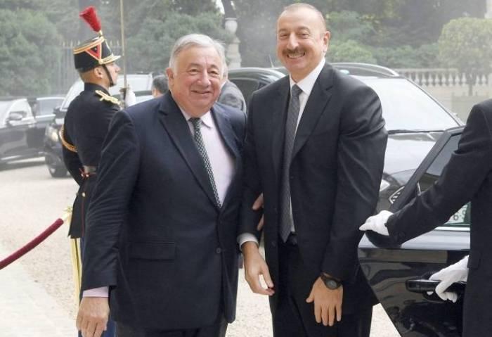İlham Əliyev Fransa Senatında - FOTOLAR