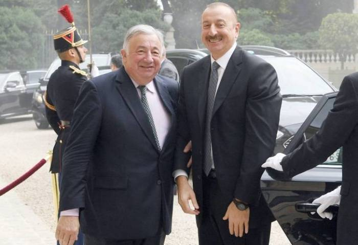 President Ilham Aliyev met with President of French Senate - PHOTOS