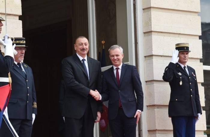 Prezident Parisdə Qarabağı müzakirə etdi - Yenilənib (FOTOLAR)