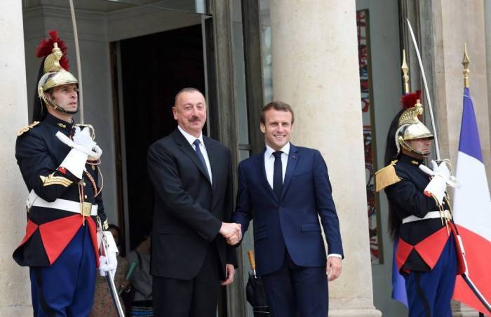 Ilham Aliyev a rencontré Macron - PHOTOS