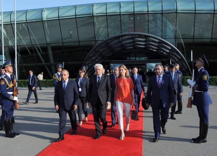 Le président italien termine sa visite officielle en Azerbaïdjan