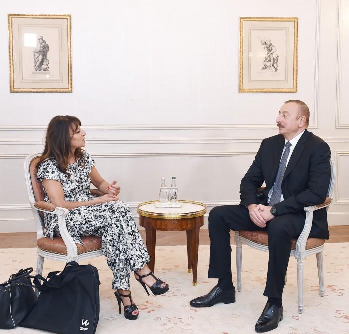 """Treffen von Aserbaidschans Präsident Ilham Aliyev mit CEO von """"Wilmotte & Associés Architectes"""""""