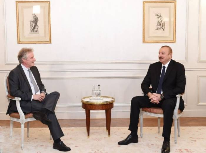 President Ilham Aliyev meets with Thales International official