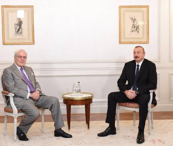 Präsident Ilham Aliyev trifft sich mit Vorsitzendem von Rothschild & Co in Paris