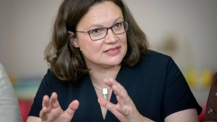 Nahles warnt SPD vor Nachahmung der Grünen