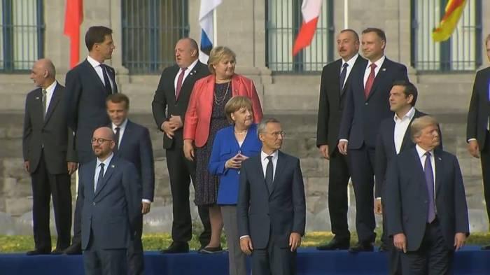 Azərbaycan prezidenti İlham Əliyevin Avropa və NATO rəsmiləri ilə görüş Brüssel ile ilgili görsel sonucu